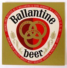 P Ballantine & Sons BALLANTINE BEER label NJ 12oz