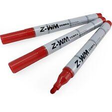 Zebra Z-WM pizarra Marcador Pluma - 2.0mm punta de bala-Rojo-Paquete de 3