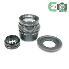 C-Nikon 1+50mm f1.4 CCTV TV Lens C mount for Nikon J1 V2 J3 AW1+2 Macro Ring