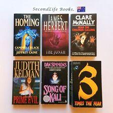 x6 HORROR BOOKS ~The Jonah, Hearing the Children Calling, Prime Evil, The Homing