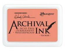 Ranger Archival Ink Pad Non Bleed Permanent Fade Resistant - Tea Rose Pink