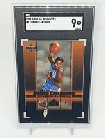 2003-04 Upper Deck Rookie Exclusives Carmelo Anthony RC #3 SGC 9 Mint Comp PSA