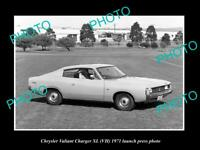 OLD 8x6 HISTORIC PHOTO OF 1971 VH XL CHRYSLER VALIANT CHARGER PRESS PHOTO 3