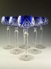 John WALSH WALSH Crystal - Blue Coloured Hock Wine Glasses - Set of 6