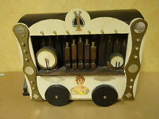 HANDMADE TOYS WOODEN BARREL ORGAN ILLUMINABLE