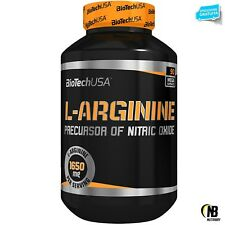 Biotech Usa L-Arginine 90 caps Integratore di Arginina precursore Ossido Nitrico
