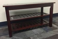 Dark cherry bamboo shoe rack bench 30 inch brand new condition