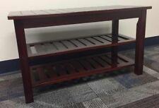 Dark cherry bamboo shoe rack bench 34 inch brand new condition