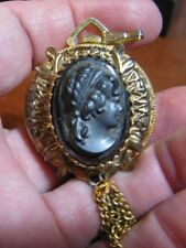 LUCERNE NECKLACE WATCH WITH CAMEO RUNNING N A WIND UP TYPE NO CHAIN