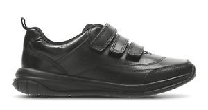 BNIB Clarks Boys Hula Thrill Black Leather Air Spring School Shoes E/F/G/H