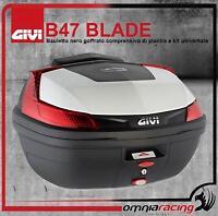GIVI Monolock B47 Blade Valigia 47 Lt./Bauletto Nero + Piastra Kit Universale