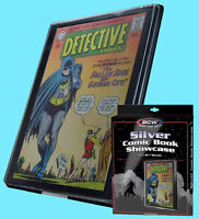 BCW SILVER AGE Size COMIC BOOK SHOWCASE DISPLAY FRAME Wall Mount Storage Case