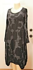 NEW RUNDHOLZ ABSTRACT PRINT LONG SLEEVE BUBBLE DRESS - SIZE LARGE BUT RUNS SMALL