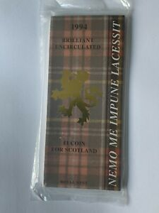 New & Sealed Royal Mint 1994 £1 Coin For Scotland (BU UNC) in Information Pack