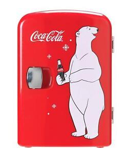 Coke Mini Fridge With Bear Cooler Counter Top Food And Drink Cool Mini Cooler UK