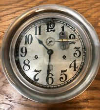 Large Ashcroft Manufactoring Company Seth Thomas Twin Wind Ships Railroad Clock