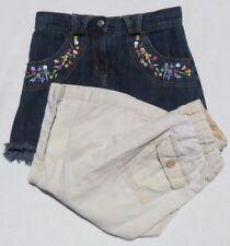 Lot GYMBOREE Blue Denim Jeans + Shorts Skort + GAP KIDS Capri Pants size 7 8