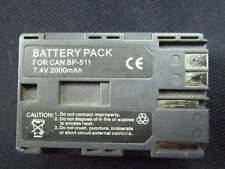 3 BATTERY PACK FOR CANON BP-511 7.4v 2000 mAh. USED/NOT WORKING/PARTS/TO REFURBI