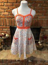 LC Lauren Conrad Spaghetti Strap Floral Swing 50's Style Dress Sz 2 Small