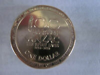 2017 ANZAC  $1 coin, Remembrance, Lest we Forget. UNC