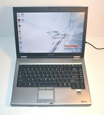 "Toshiba Satellite Laptop Intel 1.8GHz 2GB 120GB HDD 14"" DVD USB WiFi Windows 7"