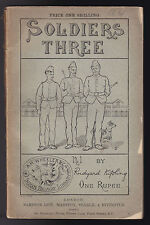 Rudyard Kipling - Soldiers Three - 1890 - Rare Vintage Paperback