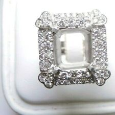 Estate Setting Mounting Mount Semi-Mount 18K White Gold Hold 13MM x 12MM x 8.6MM