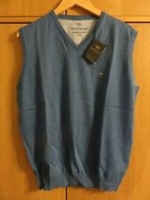 Fynch-Hatton SUPERFINE COTTON Sleeveless Jumper - Azure - Size L - NEW + Tags