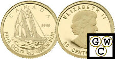 2012 Proof 50-Cent 'Bluenose' 1/25oz Gold Coin .9999 Fine (12947) (NT)