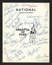"""Roddy McDowall (Cast Signed) """"HANDFUL OF FIRE"""" Kay Medford / James Daly '58 FLOP"""