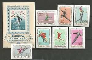 1965 HUNGARY  SKATING and ICE DANCE sc. 1484-81 + 2 SHEETS PERF/IMPERF  MNH**