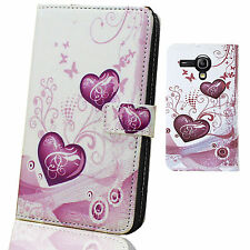 Pink Heart PU Leather Wallet case cover for Samsung galaxy s3 mini i8190