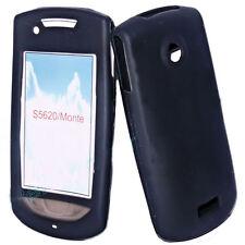 Silikon TPU Handy Cover  Hülle Schwarz für Samsung S5620 + Displayschutzfolie