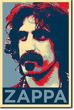 Frank Zappa Arte Foto impresión Poster De Regalo (Barack Obama esperanza parodia)