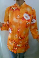 "Hawaiian VINTAGE "" Paradise Hawaii made in Honolulu"" label ladies floral Orange"