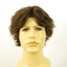 Perruque homme 100% cheveux naturel châtain clair ref LUCIEN 8