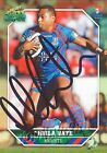 ✺Signed✺ 2011 NEWCASTLE KNIGHTS NRL Card AKUILA UATE