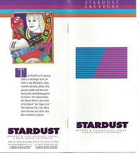 """Vintage Stardust Resort and Casino Brochure - 16 Pages 4"""" x 9"""" - info and photos"""
