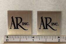 Small AR Acoustic Research Speaker Badge Logo Emblem Turntable PAIR