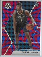2019-20 Panini Mosaic Zion Williamson Blue Reactive Prizm Rookie Card RC #209