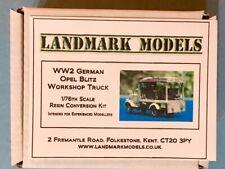 NEW!  1/76 WW2 GERMAN OPEL BLITZ WORKSHOP TRUCK - Landmark Models conversion kit