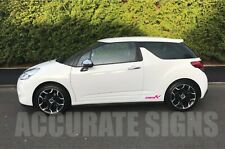 CITROEN DS3 DECALS STICKERS (PAIR) PINK MANY COLOURS