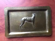Antique Old Arts &and Crafts Art Nouveau Deco Copper Brass/bronze Alloy Tray Dog