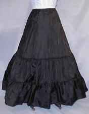 Black Med Full Wedding Bridal Petticoat Costumes Slip