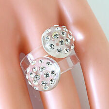 Clear Double Mushroom Acrylic Ring Dotting Cystal Elements Made By Swarovski 7