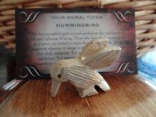 *HUMMINGBIRD* Carved Stone Figurine Totem (1) FREE Bonus LOOK Wiccan Pagan Gift