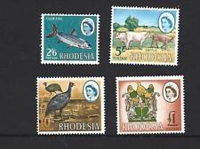 RHODESIA1966 QUEEN ELIZABETH II, 4 DIFFERENT TOP VALUE STAMPS. SG.384-7, MNH