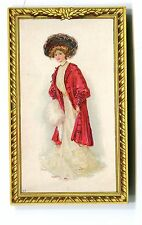 Victorian Trade Card BURCAW WEATHER STRIP Greenwald & son Allentown PA portrait