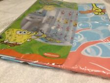 Sponge bob square pants shower curtain vinyl Nickelodeon 70x72 rare 2003 pattern
