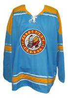 Any Name Number Size Pittsburgh Hornets Retro Custom Hockey Jersey Blue